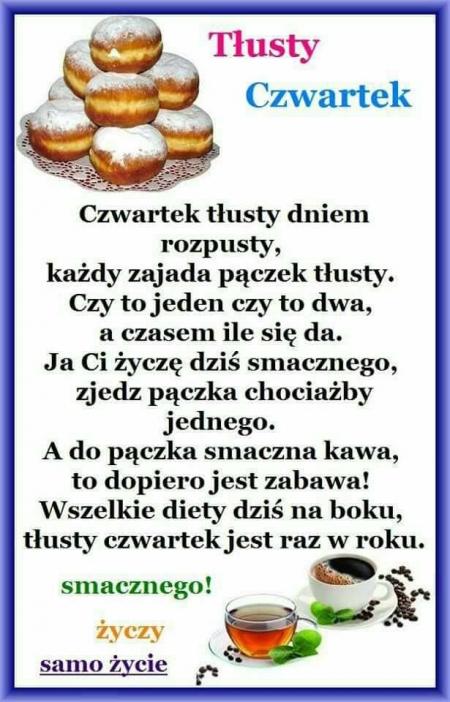 TŁUSTY CZWARTEK I PĄCZKI U BABCI HONORKI...